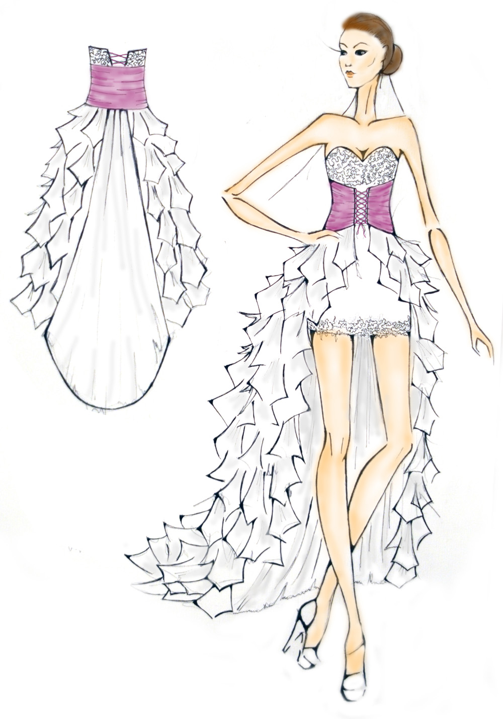 Узоры на платья рисунок