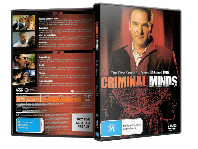Capa DVD Criminal Minds The First Season