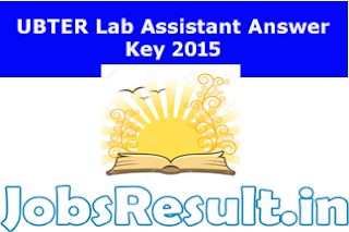 UBTER Lab Assistant Answer Key 2015