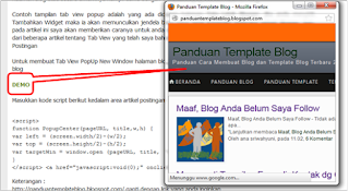 Membuat Tab View PopUp New Window Halaman Blog