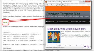 Membuat Tab View PopUp New Window Halaman Blog
