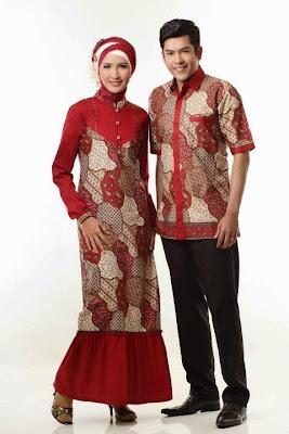 Batik motif katun twill jepang 44 couple merah