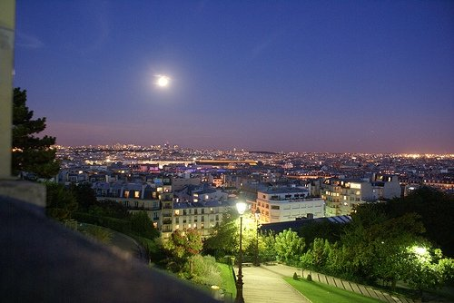 Paris overview night