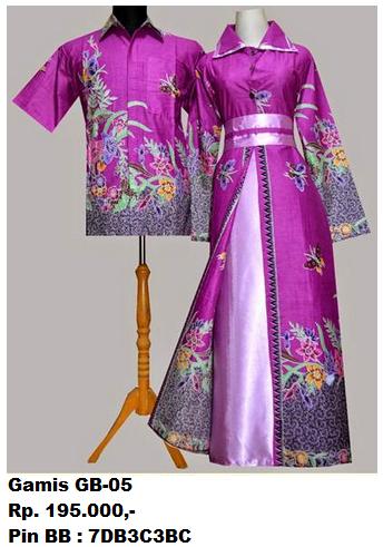 Gambar Gamis Batik Modern