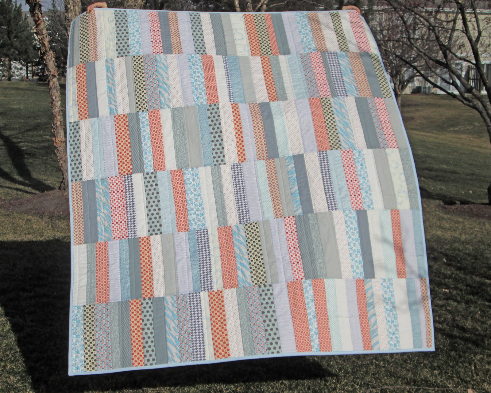 Strip Quilt Patterns For Free : s.o.t.a.k handmade: strip quilt {finished}