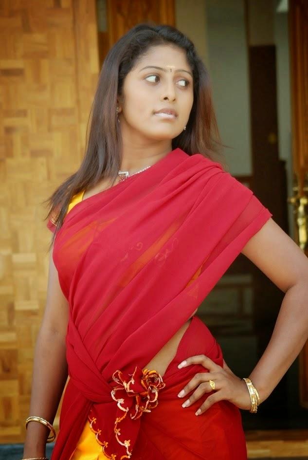 Vinutha Lal Hot Navel Pics In Red Saree Malayalam Tamil ...