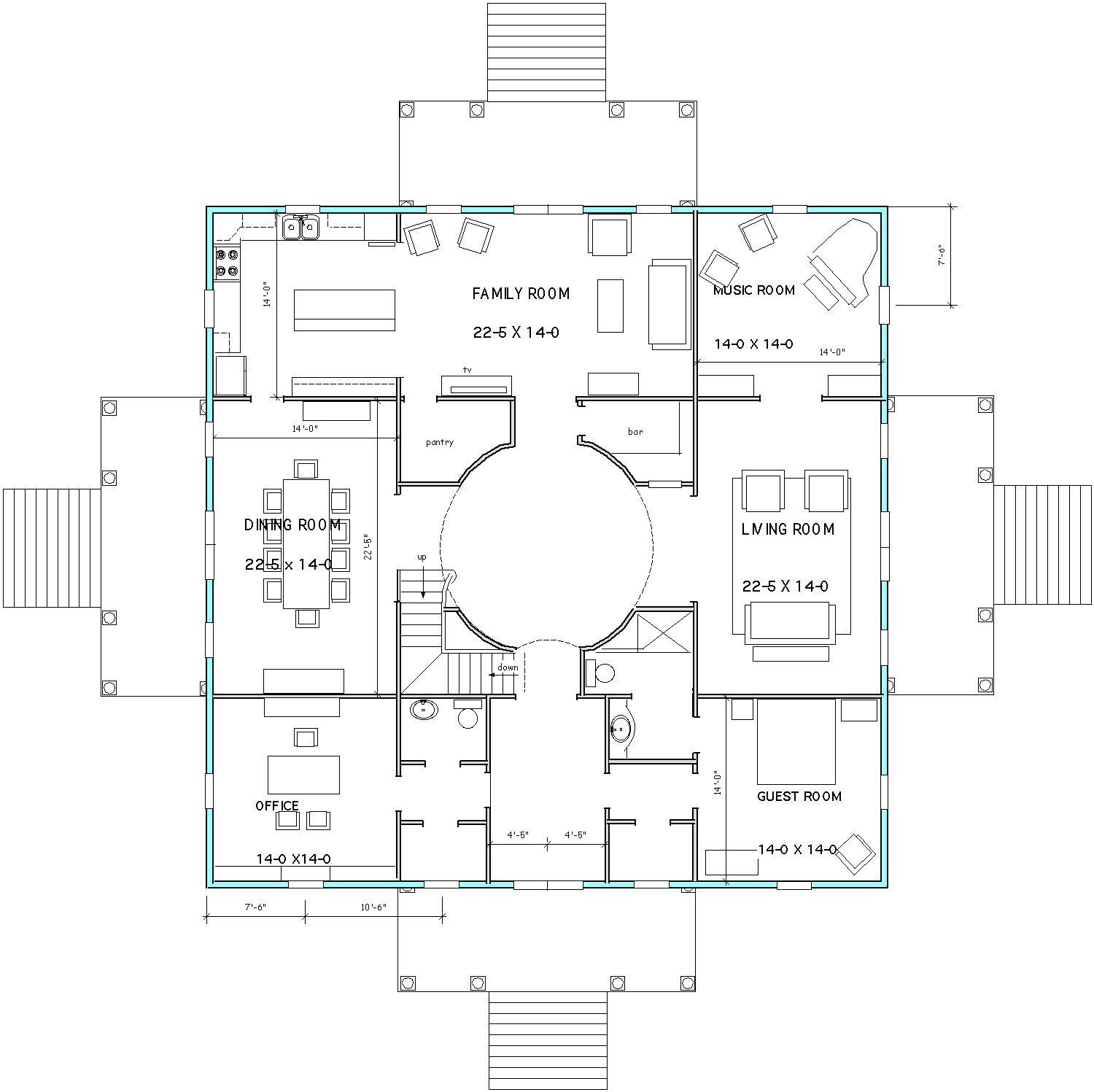 Thoughts on home design 2015 palladio rotonda universality for Palladian house plans