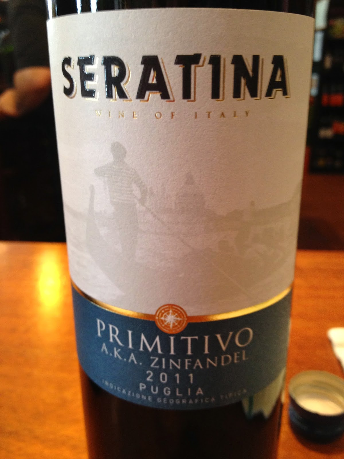 2011 Seratina Primitivo wine from Puglia