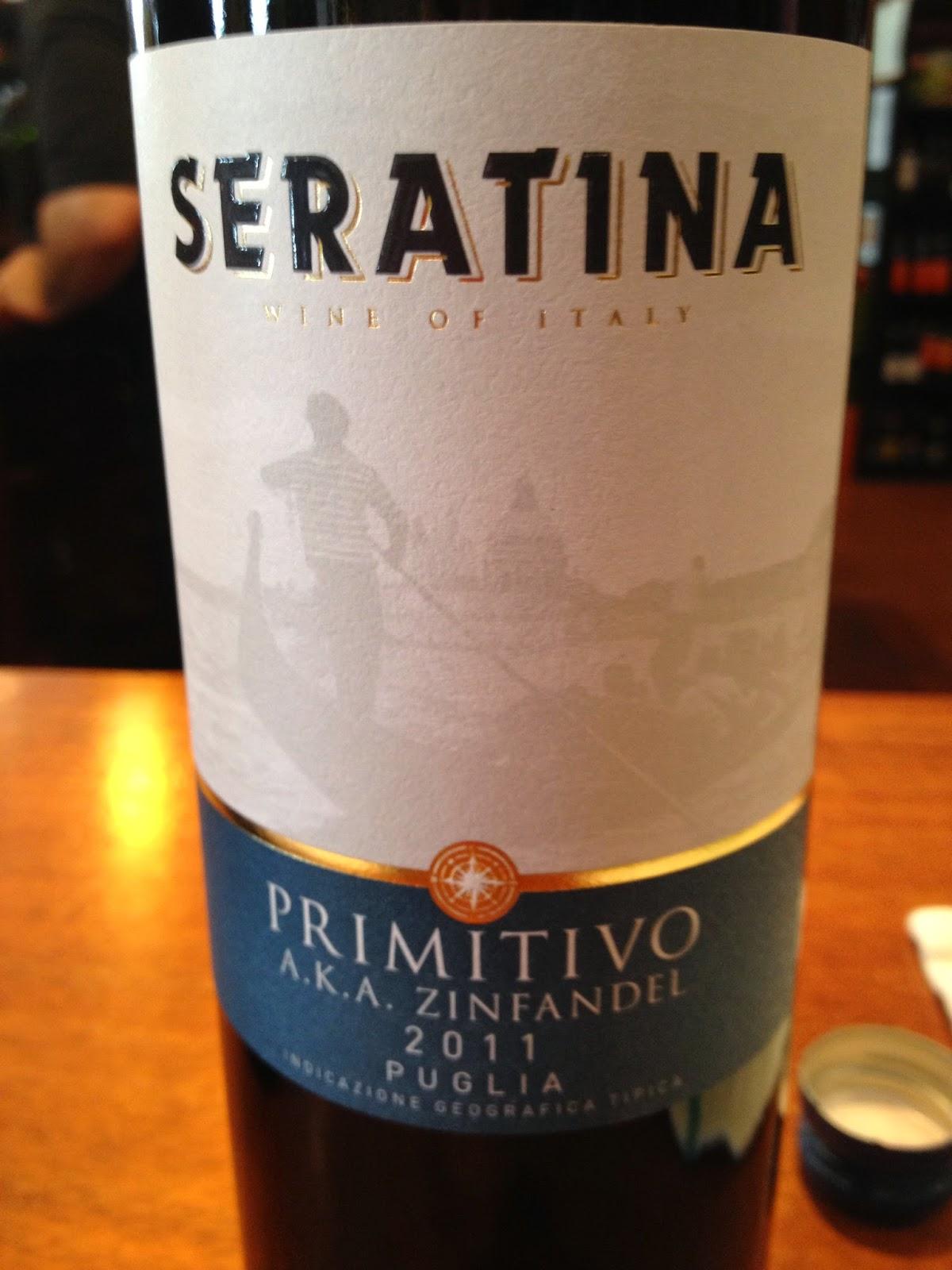 2011 Seratina Primitivo wine from Puglia