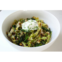 Greek yogurt with quinoa and cabbage