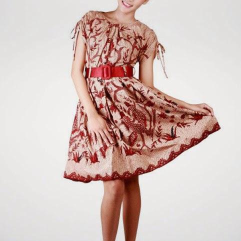 Model baju batik wanita elegan feminim terbaru