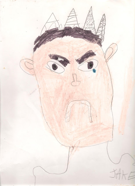 Elementary Homeschool Art Lesson Self-Portrait