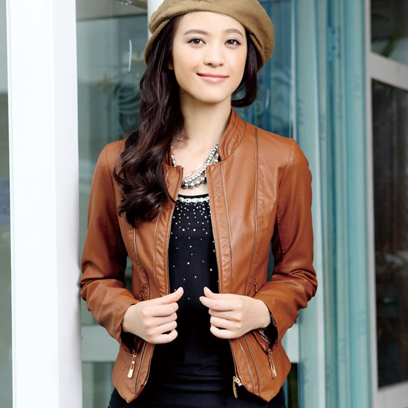 How to wear a short black leather jacket – Modern fashion jacket ...