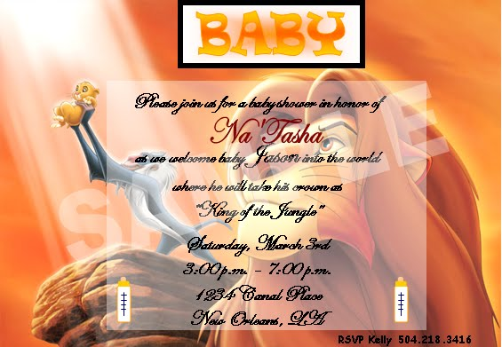 solutions event design by kelly lion king baby shower invitations