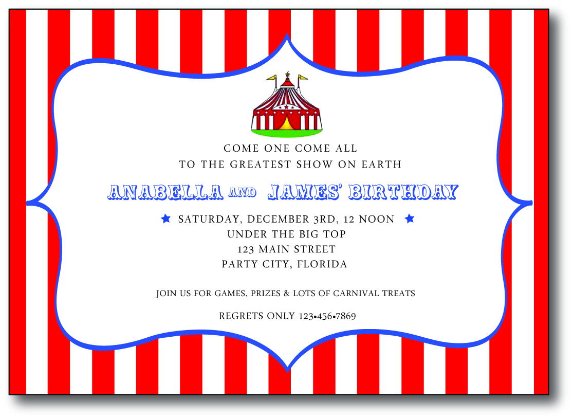 Cordially Invited: Anabella and James\' Carnival Birthday Party!