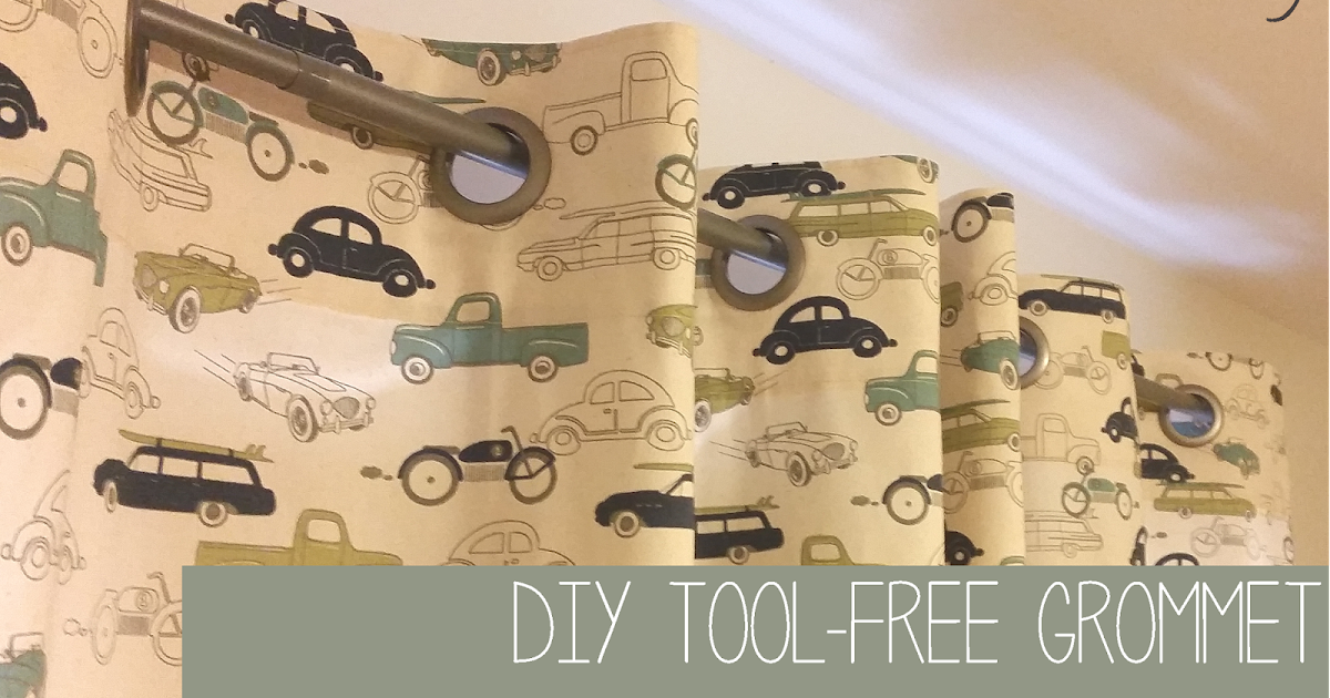 Sew at Home Mummy : Tutorial: Tool-Free Grommet Panel Curtains