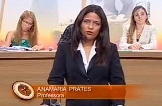 Professora Anamaria Prates no Saber Direito