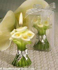 Lembrança de casamento velas decorativas