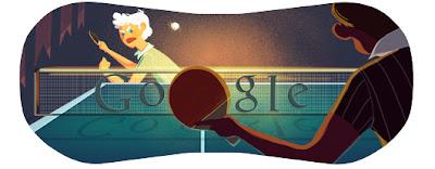 londra 2012 masa tenisi google logosu