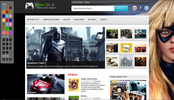 Game Speed Free WordPress Theme 16 Best 2012 Free WordPress Themes