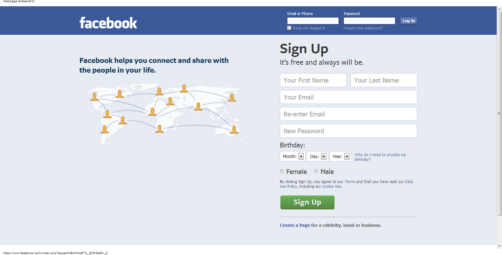 Welcome to Facebook - Log In, Sign Up or Learn More-212801.png