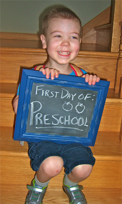 First Day of School, Chalkboard