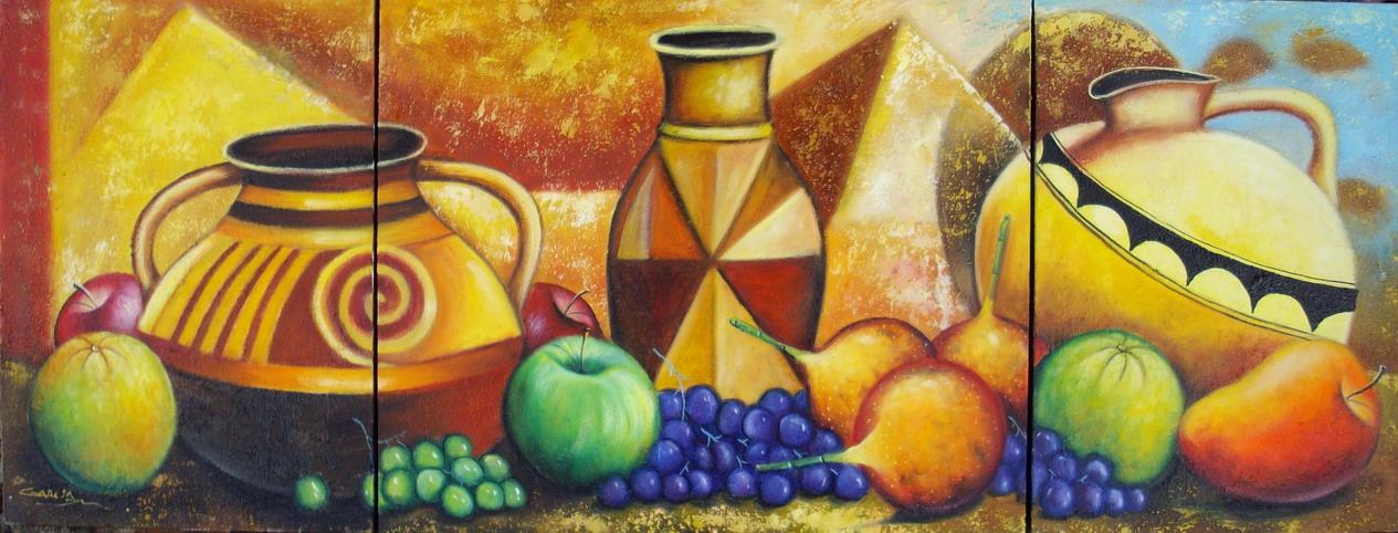 Pintura moderna y fotograf a art stica frutas pintadas for Cuadros modernos para decorar cocinas