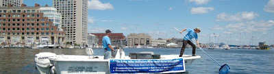 Boston Harbor cleanup efforts use many dumpsters