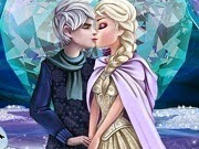 Frozen Elsa y Jack Frost Kissing