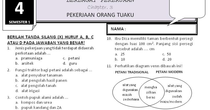 Download Soal Kelas 4 Tema 4 Subtema 3 Rief Awa