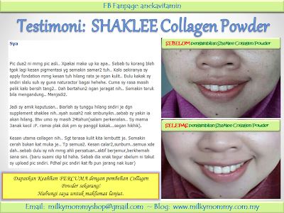 7 Testimoni Kulit Cantik Dengan Collagen Powder Shaklee 2015