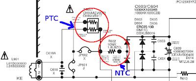Aplikasi NTC dan PTC pada Televisi