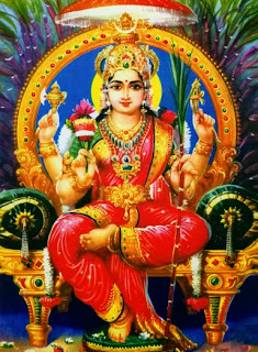 The mother-goddess, personification of matter and energy, shakti modern calendar image