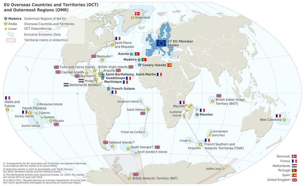 Online Maps European Overseas Territories - French maps online
