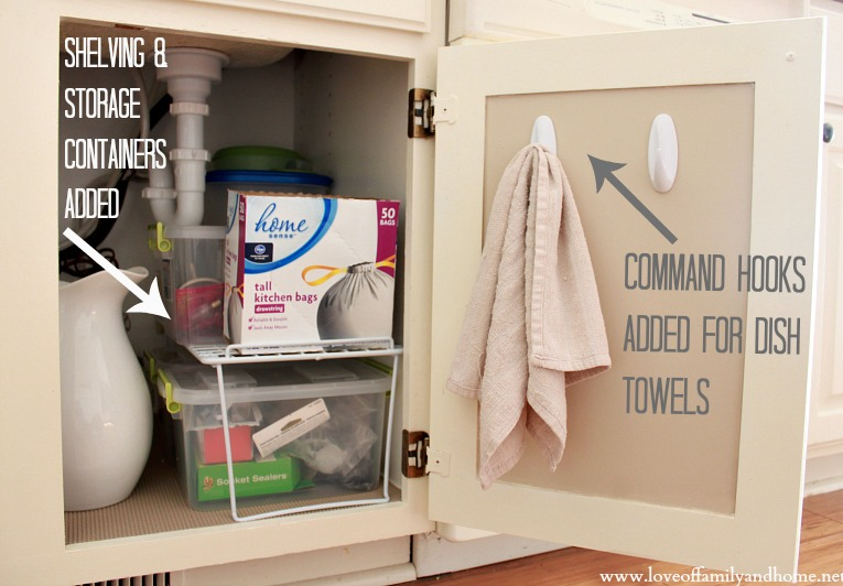 Cool Under The Kitchen Sink Organizing Ideas