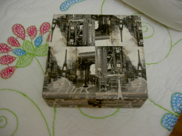 Caja de madera pintada y decorada con servilletas - Manualidades con cajas de madera ...