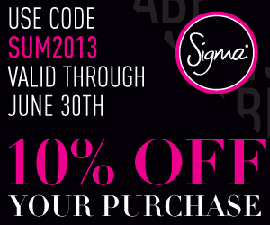 Promo Sigma -10% pour le mois de juin 2013