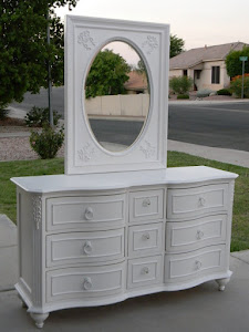 White Dresser with Mirror  *SOLD*