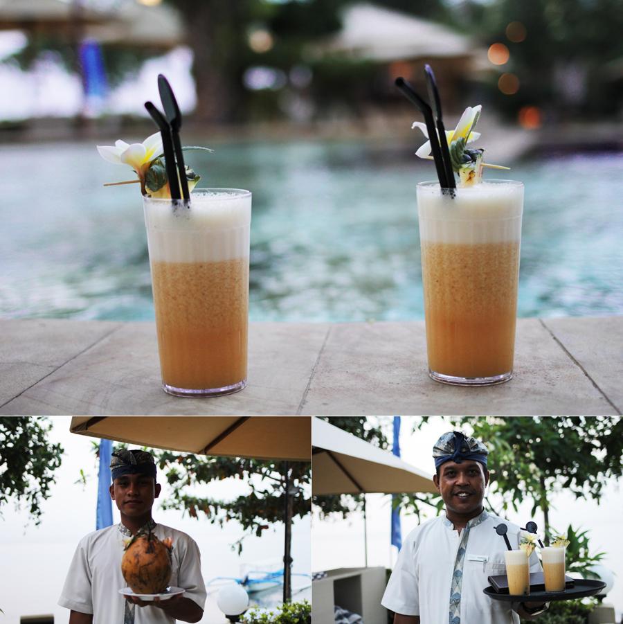 drinks flower coconut