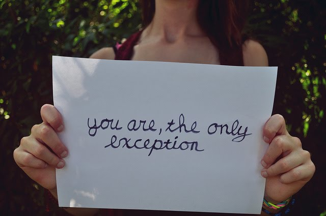 you are the only excetion !!