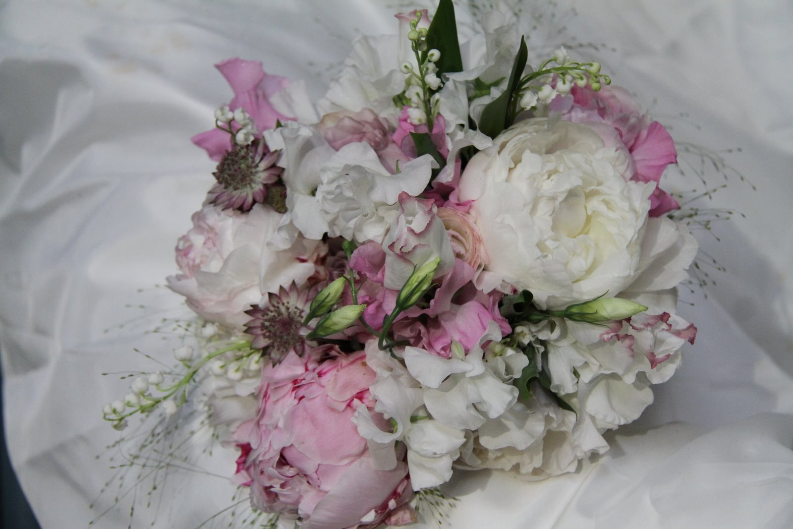 The Flower Magician Sweet Peas Peonies And Lily Of The Valley