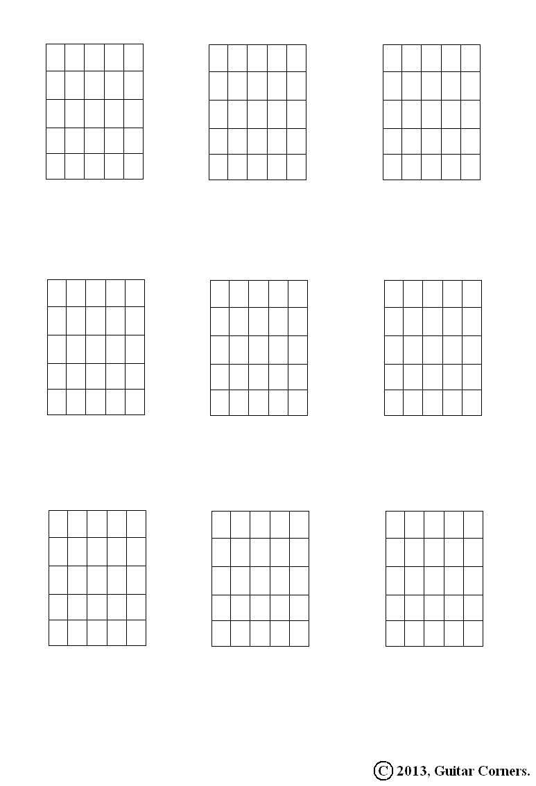 Blank Guitar Fretboard Chord Diagrams Diy Wiring Diagrams