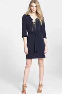 MICHAEL Michael Kors Chain Lace Jersey Dress (Regular & Petite)