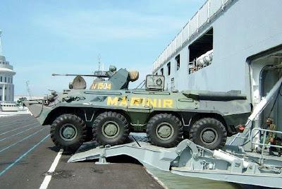 BTR-80A - Marinir TNI AL