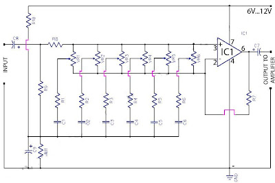 6 Band Graphic Equaliser Circuit