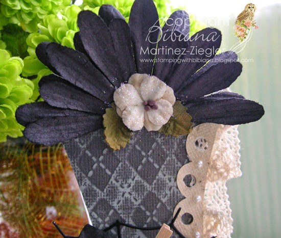 halloween boot petaloo black flowers detail