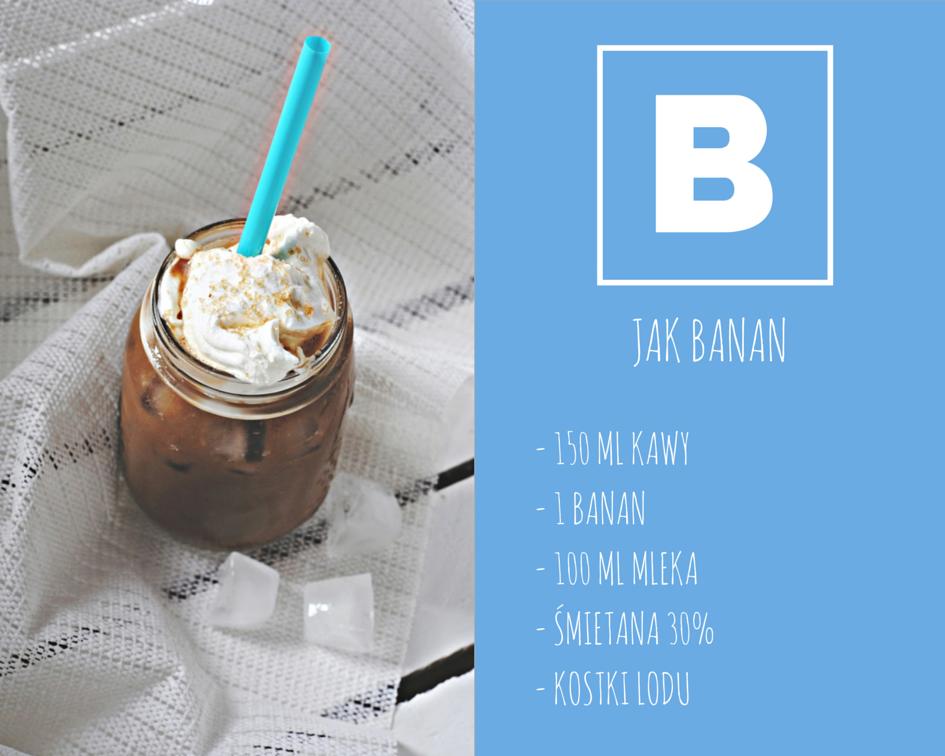 Kawa bananowa, bananowe frappe, frappe w domu