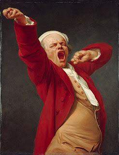 Lo sbadiglio di Joseph Ducreux (autoritratto, 1783)