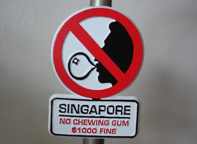 Sakız almak için reçete gereken ülke: Singapur