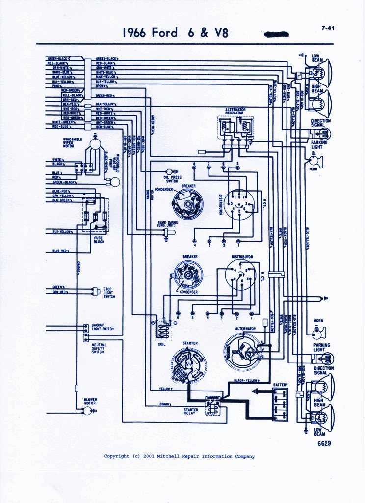 1966 ford thunderbird wiring diagram